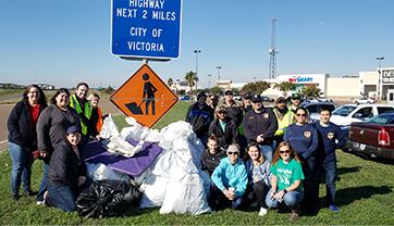 Adopt a highway volunteers