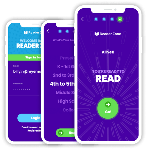 reader Zone app digital reading log