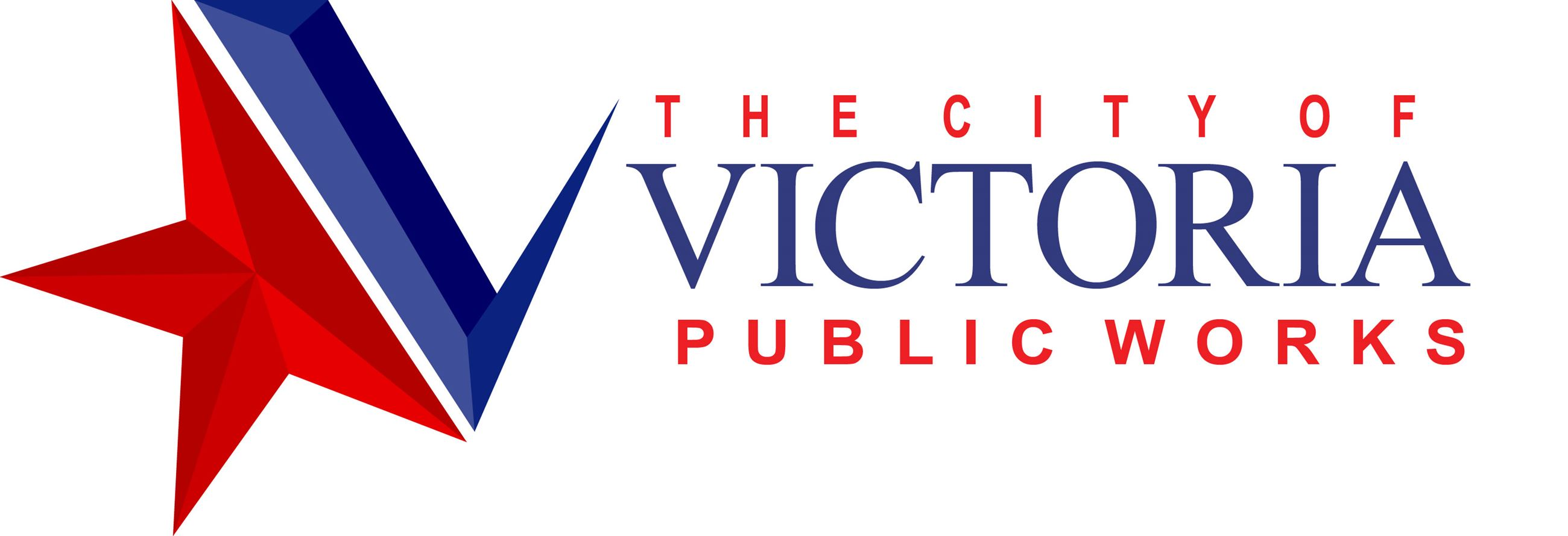 Public Works logo with blue-and-red City of Victoria star