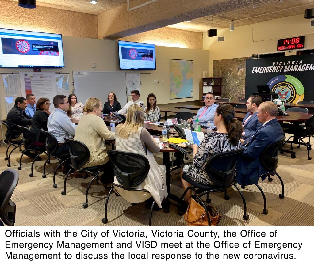 Officials with the City of Victoria, Victoria County, the Office of Emergency Management and VISD me