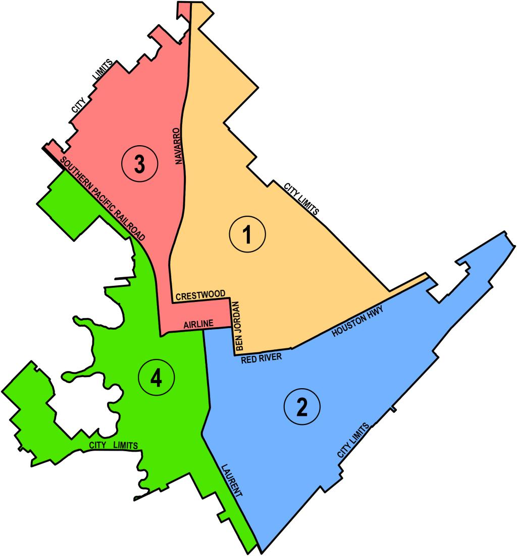 Map showing the four areas of disposal are located